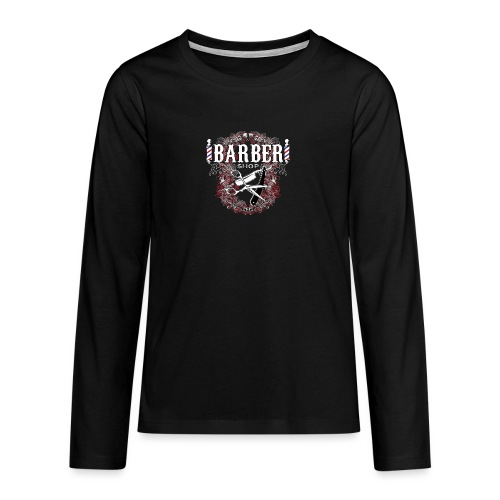 Barber Shop_03 - Maglietta Premium a manica lunga per teenager