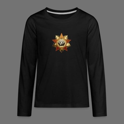 Kosmonautti mitali - Teinien premium pitkähihainen t-paita