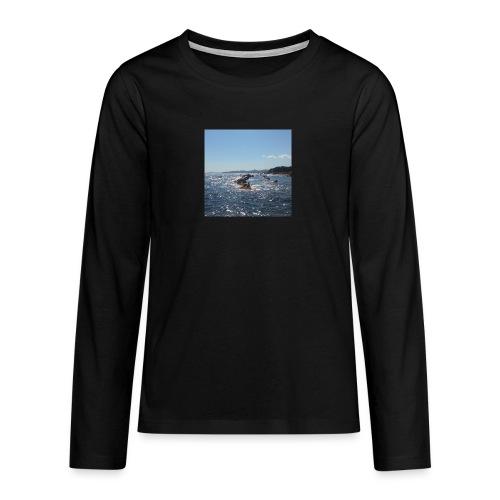 Mer avec roches - T-shirt manches longues Premium Ado