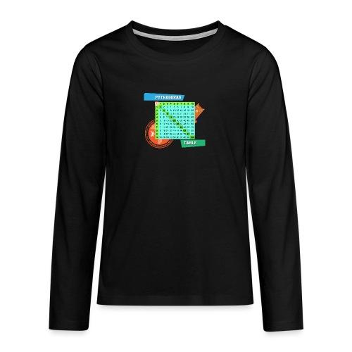 Pythagoras table - Premium langermet T-skjorte for tenåringer