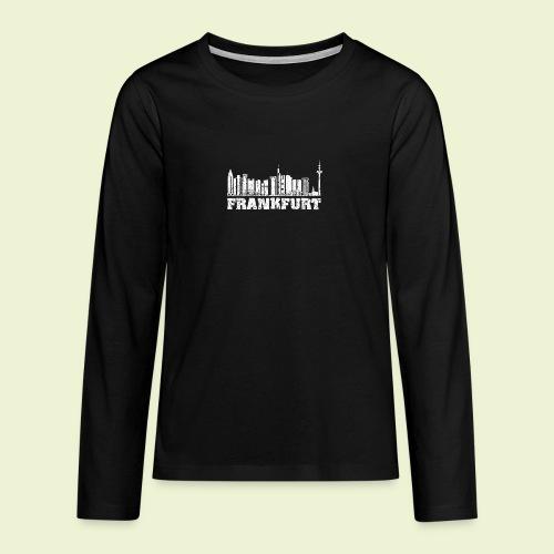 Frankfurt - Teenager Premium Langarmshirt