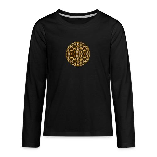 Flower of life GOLD 2 - Teenager Premium shirt met lange mouwen