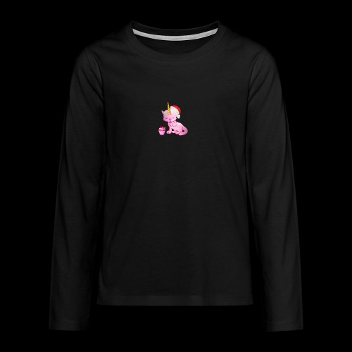 Licorne père noël - T-shirt manches longues Premium Ado
