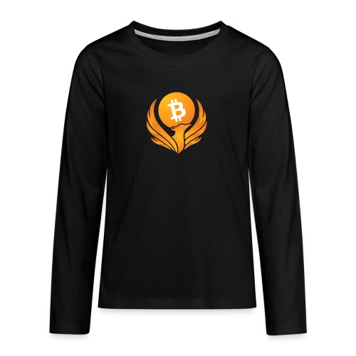 BITCOIN FENIKS - Koszulka Premium z długim rękawem dla nastolatków