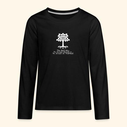 Printed T-Shirt Tree Best Way Invest Money - Maglietta Premium a manica lunga per teenager