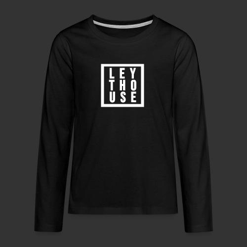 LEYTHOUSE Square white - Teenagers' Premium Longsleeve Shirt