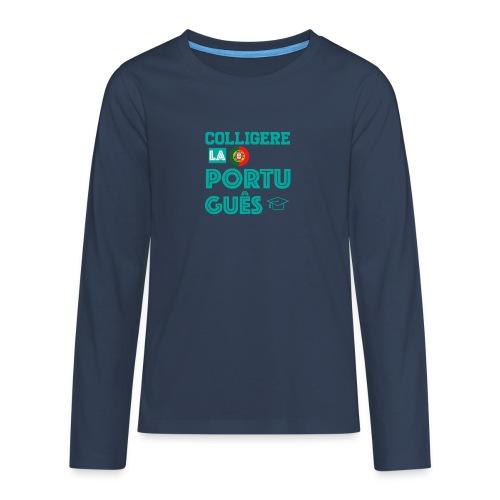 Colligere LA Português - Premium langermet T-skjorte for tenåringer