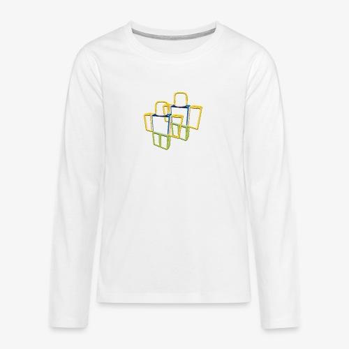 Sqaure Noob Person - Teenagers' Premium Longsleeve Shirt