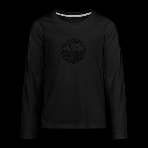 IBV Die Lichter das Meer black - Teenager Premium Langarmshirt