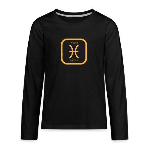 Horoskop Fische12 - Teenager Premium Langarmshirt