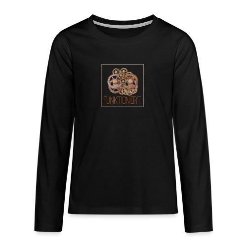 Zahnräder shirt - Teenager Premium Langarmshirt