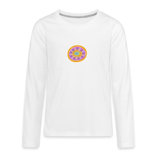Mandala Pizza - Teenagers' Premium Longsleeve Shirt