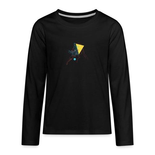 a girl and a bird - T-shirt manches longues Premium Ado