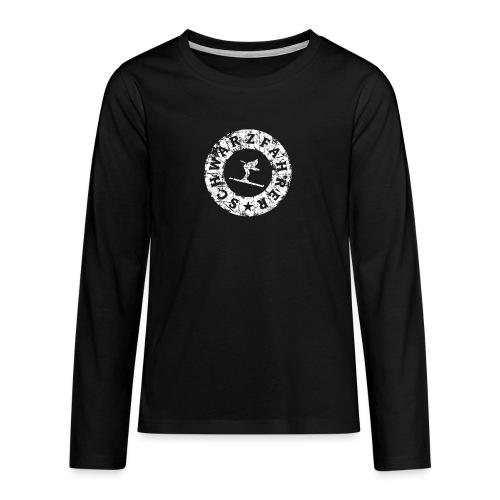Schwarzfahrer Ski Skifahrer - Teenager Premium Langarmshirt
