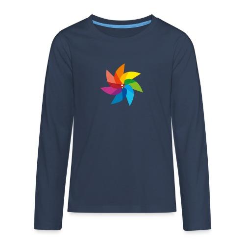 bunte Windmühle Kinderspielzeug Regenbogen Sommer - Teenagers' Premium Longsleeve Shirt