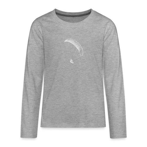 paraglider gerlitzen weiss - Teenager Premium Langarmshirt