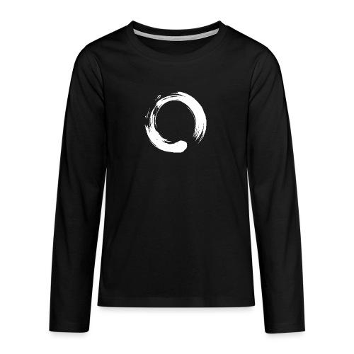 Enso Zen Symbol Buddhismus Kalligrafie Yoga Kreis - Teenager Premium Langarmshirt