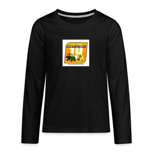hjarne 123 danmarks bedeste youtuber - Teenager premium T-shirt med lange ærmer