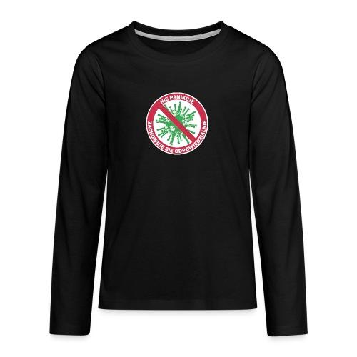 nie panikuje corona-virus - Koszulka Premium z długim rękawem dla nastolatków