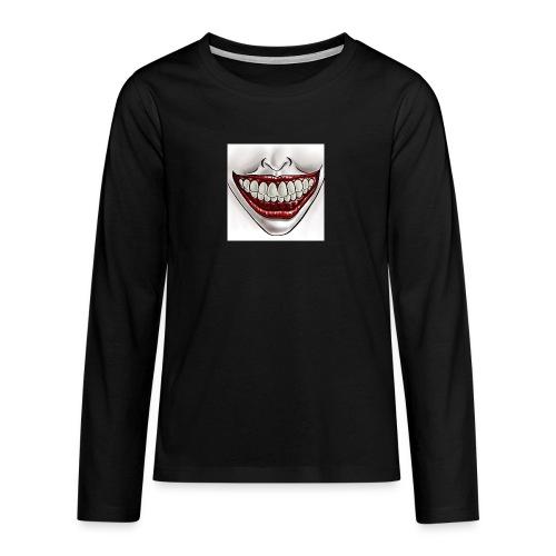 Smile Maske - Teenager Premium Langarmshirt