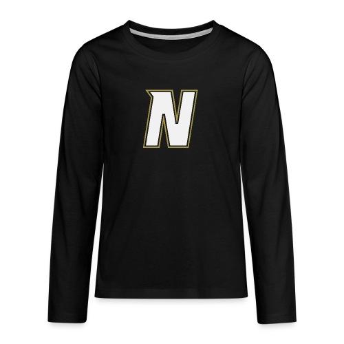 Nordic Steel WHITE N - Teenagers' Premium Longsleeve Shirt