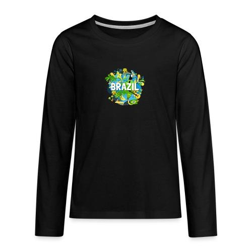 Encontro Brasil - Teenagers' Premium Longsleeve Shirt