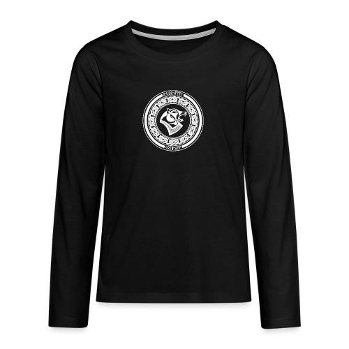 BjörnfellRisingWhite - Teinien premium pitkähihainen t-paita