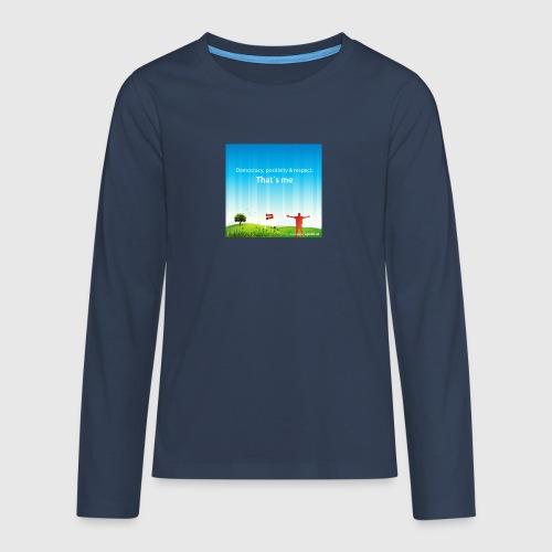 Rolling hills tshirt - Teenager premium T-shirt med lange ærmer