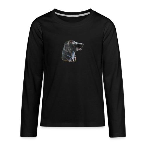 flatcoated retriever color - Teenager premium T-shirt med lange ærmer