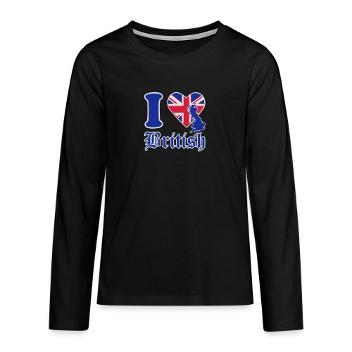 i love british - Teenager Premium Langarmshirt