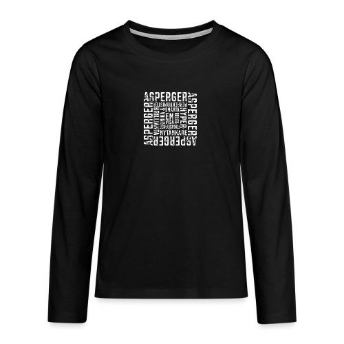 Asperger - så mycket mycket potential - Långärmad premium T-shirt tonåring