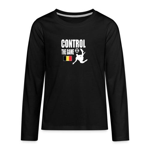 Control The Game Belgium - Teenager Premium shirt met lange mouwen