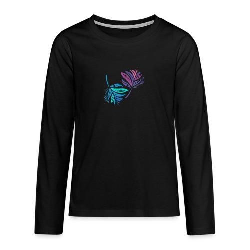 foglie geometriche - Maglietta Premium a manica lunga per teenager