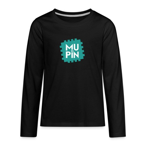 Logo Mupin quadrato - Maglietta Premium a manica lunga per teenager