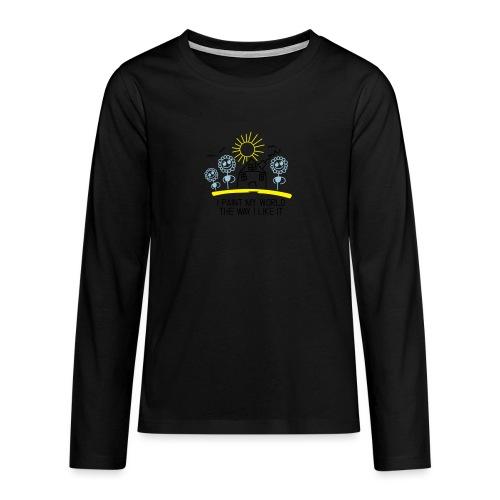 paint-my-world - Teenager Premium Langarmshirt