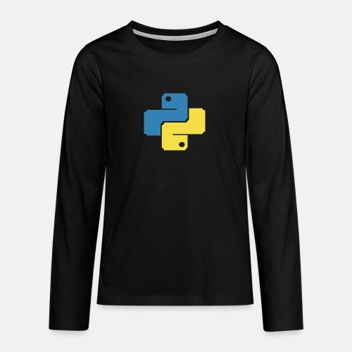 Python Pixelart - Teenagers' Premium Longsleeve Shirt