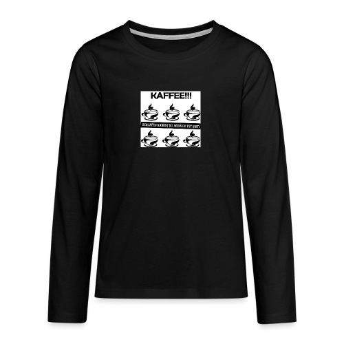 Coffee Kaffee Barista - Teenager Premium Langarmshirt