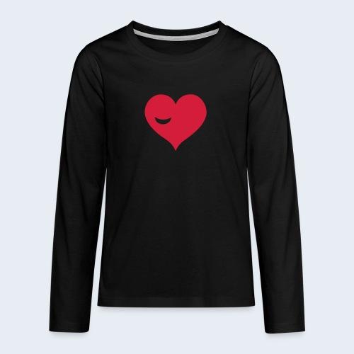 Winky Heart - Teenager Premium shirt met lange mouwen