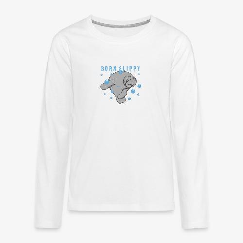 Born Slippy - Långärmad premium T-shirt tonåring