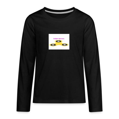 sponner - Premium langermet T-skjorte for tenåringer