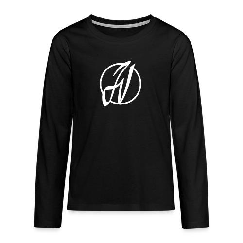 JV Guitars - logo blanc - T-shirt manches longues Premium Ado