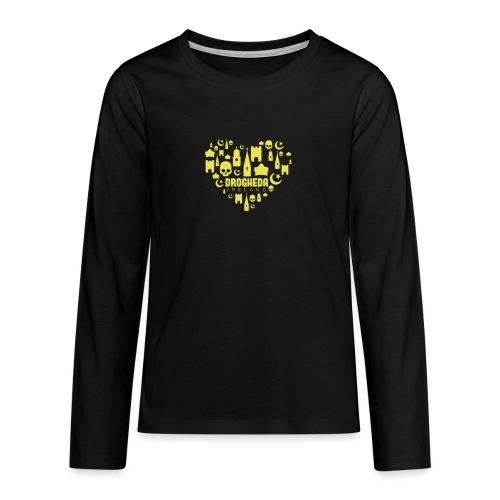Drogheda Black - Teenagers' Premium Longsleeve Shirt