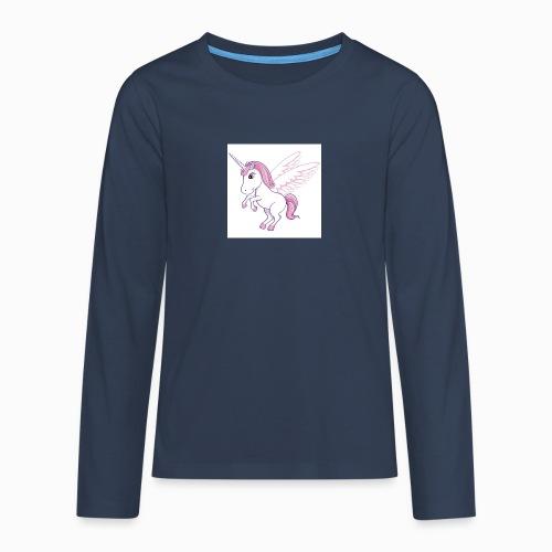 Petite licorne rose super mignonne!! - T-shirt manches longues Premium Ado