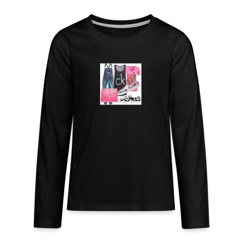 outfit pace e amoreio amo il colore - Maglietta Premium a manica lunga per teenager