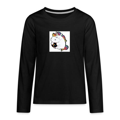 MIK Einhorn - Teenager Premium Langarmshirt