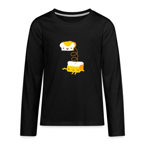 Cat sandwich gatto sandwich - Maglietta Premium a manica lunga per teenager