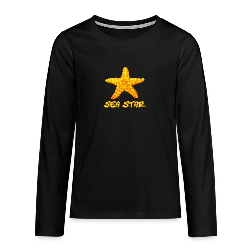 Seestern orange - Teenager Premium Langarmshirt