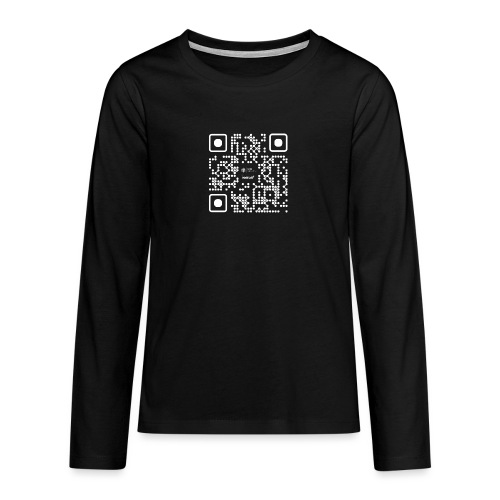QR - Maidsafe.net White - Teenagers' Premium Longsleeve Shirt