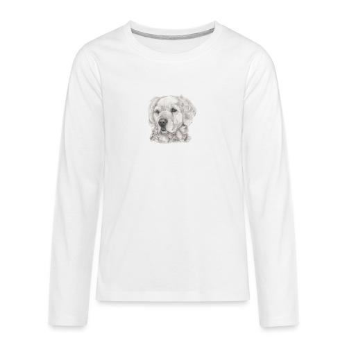 golden retriever - Teenager premium T-shirt med lange ærmer