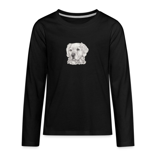 golden retriever - Teenager premium T-shirt med lange ærmer